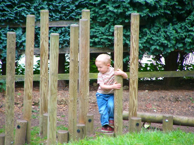 Morgan climbing at Prinknash Abbey