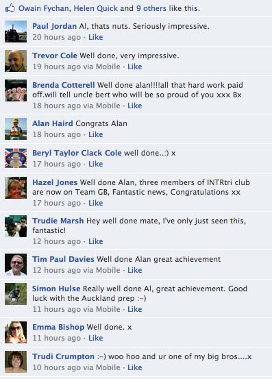 Comments From Facebook