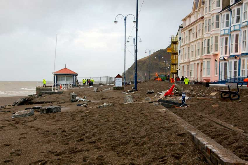 Aberystwyth Prom Storm Damage